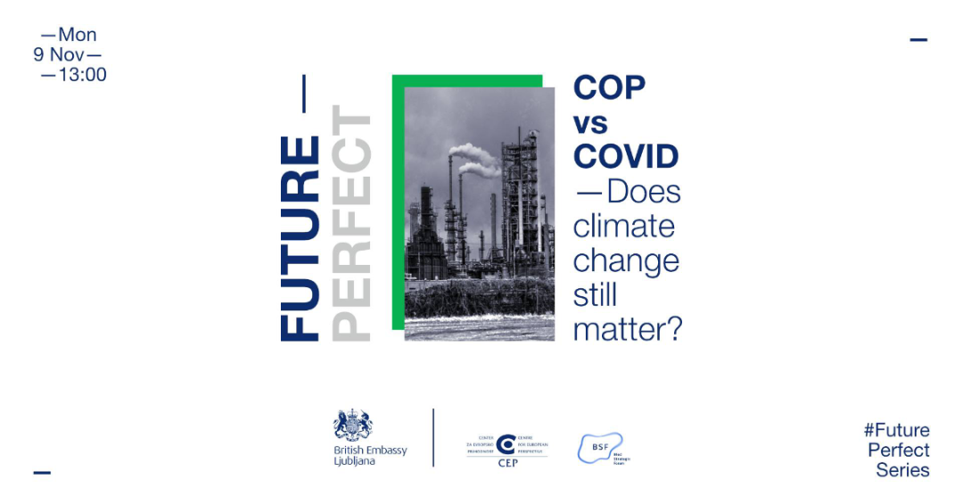 COP26 and COVID-19 – British and Slovenian experts debate the pandemic's impact on climate change